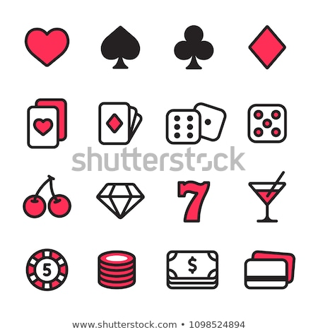 Poker jeux ligne design style Photo stock © Decorwithme