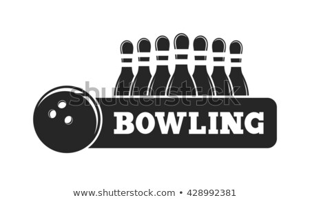 Bowling Ball And Skittles On Lane Banner Vector Stock photo © pikepicture