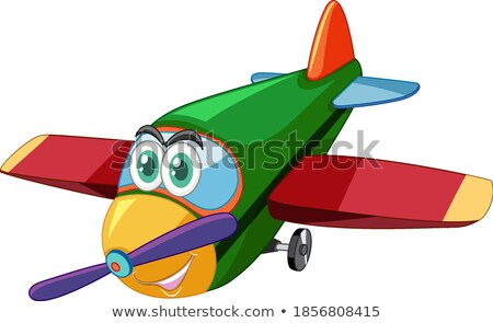 Airplane cartoon character with big eyes isolated Stock photo © bluering