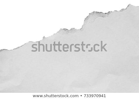 rasgar · papel · lugar · texto · abstrato · branco - foto stock © orson