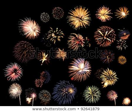 multipla · colorato · fuochi · d'artificio · isolato · nero · quattro - foto d'archivio © dsmsoft