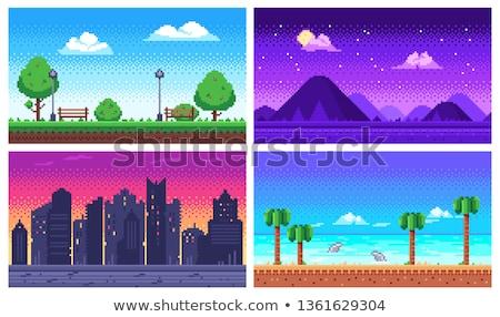 Otto po città retro videogioco Foto d'archivio © blamb