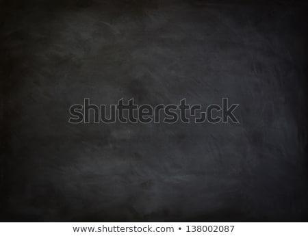 Okul tahta kara tahta silgi tebeşir Stok fotoğraf © bbbar