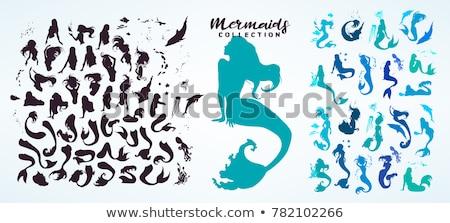 Subaquático dança golfinhos estrelas acima amor Foto stock © illustrart