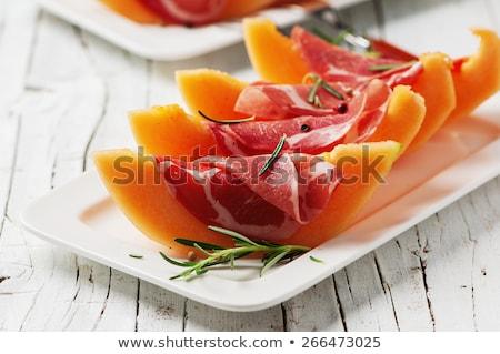 частей · дыня · белый · продовольствие · оранжевый · десерта - Сток-фото © joker