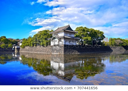 ストックフォト: 宮殿 · 表示 · 東京 · 秋 · 水 · 市
