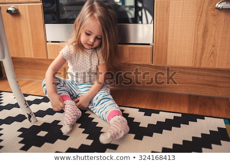 Aderezo calcetín mujer negro nylon sexy Foto stock © imarin