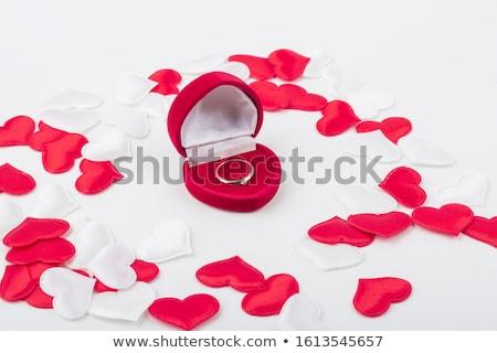 кольца · красный · окна - Сток-фото © zastavkin