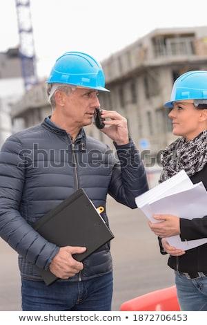 craftsman talking on his walkie-talkie Stock photo © photography33