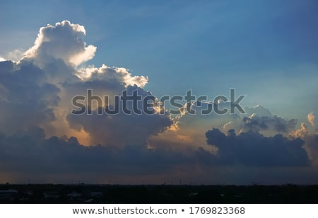 Tropical Sky - Cumulus clouds Stock photo © mosnell