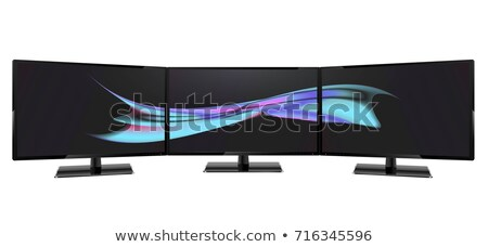 Triple Monitor Setup Stock photo © Spectral