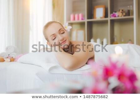 Woman laying down at health spa Stock photo © photography33