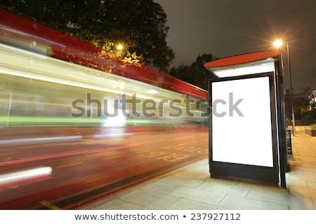 Londyn przystanek autobusowy podpisania Fotografia drogowego podróży Zdjęcia stock © Artlover