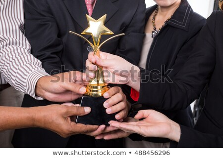 two businessmen holding trophy stock photo © photography33