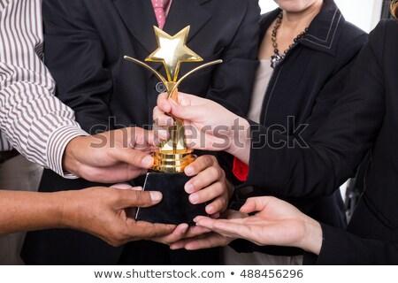 Due imprenditori trofeo felice imprenditore Foto d'archivio © photography33