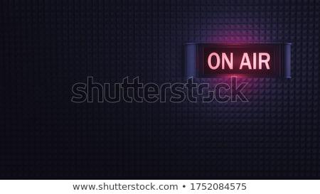 Illusztráció levegő felirat zene munka fény Stock fotó © cozyta