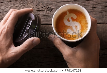 koffie · dollar · koffiekopje - stockfoto © devon