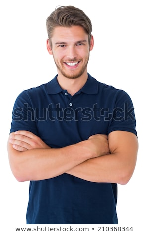 Portrait of Smiling Man in Polo Shirt Stock photo © scheriton