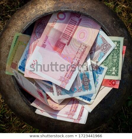 Kazan bakır dolar içinde yalıtılmış Stok fotoğraf © prill