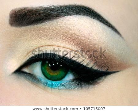 ouro · brilhante · make-up · beleza · cara · da · mulher · criatividade - foto stock © gromovataya