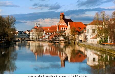 Rio Munique Alemanha centro da cidade água verde Foto stock © haraldmuc