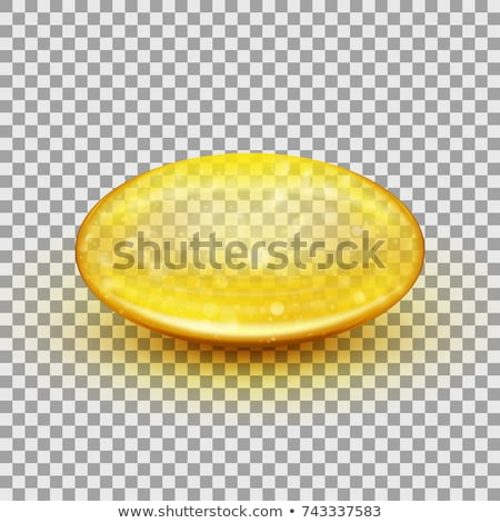 黄色 · ゲル · カプセル · 孤立した · 白 · 金 - ストックフォト © melpomene