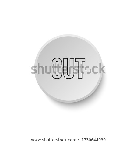vector illustration of scissors template with glossy buttons and