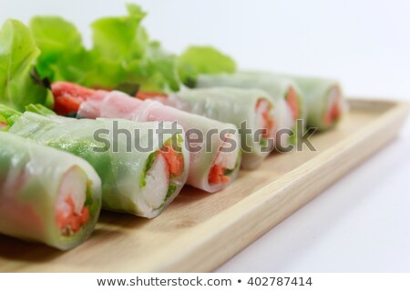 中国語 · 箸 · サラダ · 水平な · 背景 · 表 - ストックフォト © fanfo