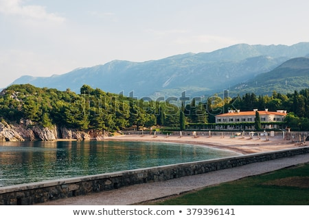 Pembe kumlu plaj Karadağ güneydoğu su Stok fotoğraf © vlad_star
