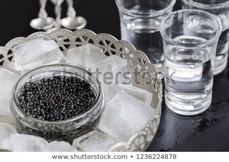 Tiro ruso vodka aislado blanco agua Foto stock © karandaev