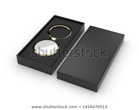 madeni · mücevher · kutu · yalıtılmış · beyaz - stok fotoğraf © inxti