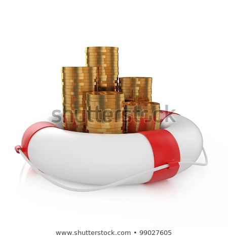 dollárjel · piros · izolált · fehér · üzlet · pénz - stock fotó © tashatuvango