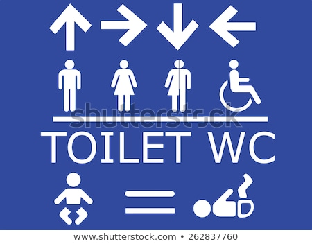 Stock photo: Vector Sign indicating Women's and Men's Toilets