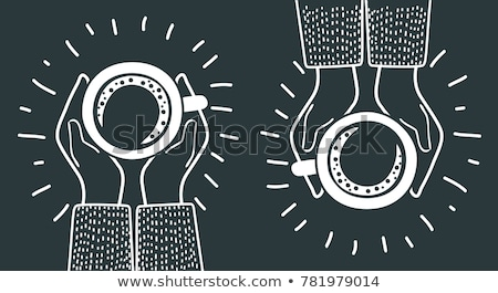 two love banners with coffee vector illustration stock photo © carodi