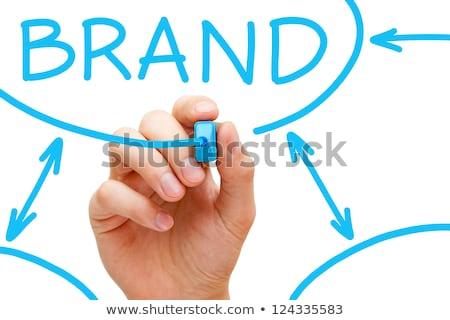 ストックフォト: Brand Flow Chart Blue Marker