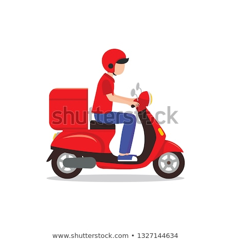 Red scooter vector stock photo © digiselector
