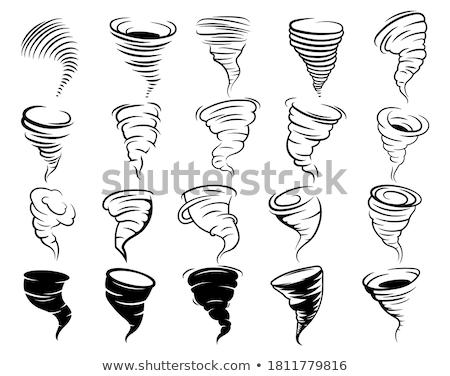 Cartoon tornado geïsoleerd witte abstract natuur Stockfoto © nik187