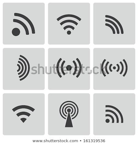Ikonok drótnélküli vektor számítógép telefon internet Stock fotó © Luppload
