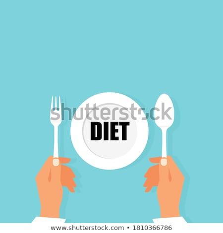 dieet · keuzes · gezonde · ongezond · te · zwaar · man - stockfoto © unikpix