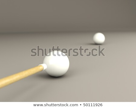 3d, ball, ball game, billiard, bullet, chalk, championship, competition, cue, game, isolated, loom,  Stock photo © MikhailMishchenko