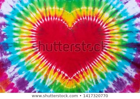 Pamuk kumaş kalpler kırmızı doku kalp Stok fotoğraf © luckyraccoon