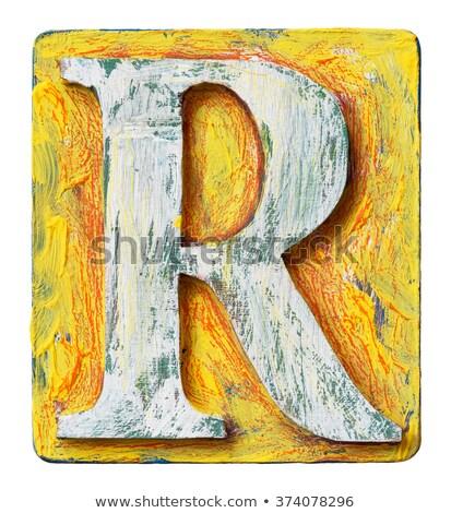 wooden alphabet - letter R Stock photo © ozaiachin
