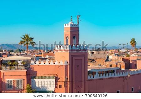 Minare detay cami Fas Stok fotoğraf © rmarinello