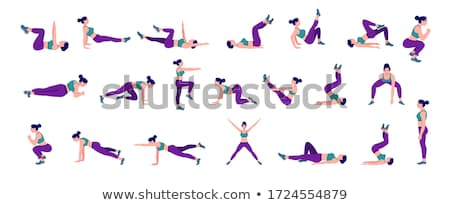 Fitness with exercise Stock photo © Lightsource