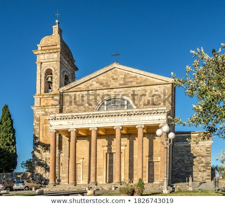 Toscane · stad · kasteel · Italië · wijn - stockfoto © Bertl123