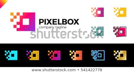 Dynamisch pleinen logo business naam Stockfoto © fenton