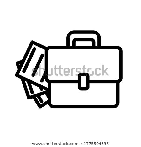 Teczki dokumentów ciężki skóry napisany na zewnątrz Zdjęcia stock © cteconsulting