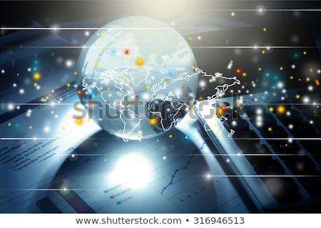 Wereldbol business aarde financieren dollar bancaire Stockfoto © 4designersart