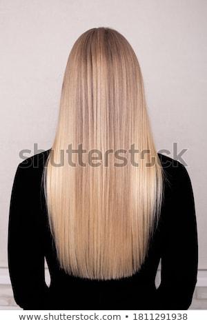 beautiful long haired blonde Stock photo © zastavkin