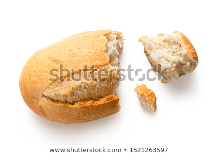 Eaten piece of bread isolated on white Stock photo © snyfer